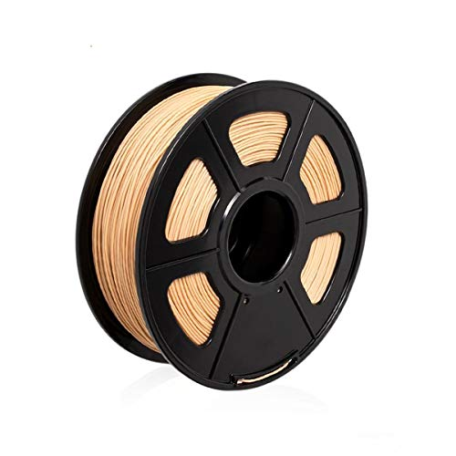 3D Filamento Legno Colorato PLA+ 1,75 mm – EKOHOME 0.5KG/180m Filamento per Stampante 3D / Penna di Stampa 3D, Tolleranza +/- 0.02mm, RoHS Approvato e Non Tossico (Legno 0.5KG)