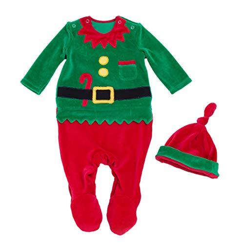 FENICAL bebé Footies Navidad Felpa Duende Mameluco Lindo Mono Infantil para bebés niños para Fiesta de Navidad