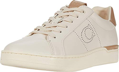 COACH Lowline Low Top Chalk/Taupe Smooth Leather 6.5