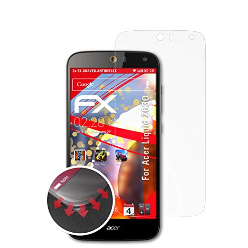 atFolix Schutzfolie kompatibel mit Acer Liquid Z630 Folie, entspiegelnde & Flexible FX Bildschirmschutzfolie (3X)