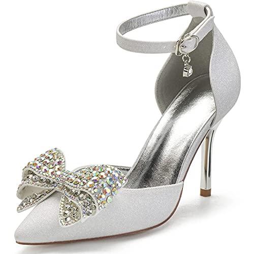 ZJHTK Mujeres Sexy Zapatos Corte, Dedo Puntiagudo Estilete, Altura Los Tacones 9Cm,...