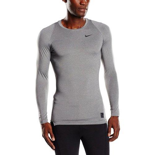 NIKE Langarm Kompressionsshirt Cool Compression Camiseta de Mangas largas, Hombre, Gris/Negro, L
