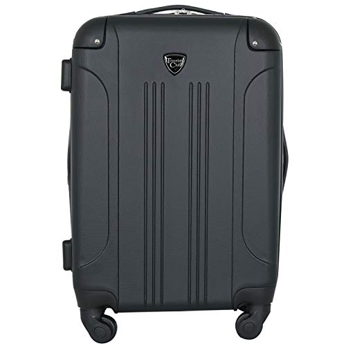 Travelers Club Chicago Hardside Expandable Spinner Luggage, Black, Carry-On 20-Inch