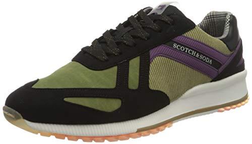 SCOTCH & SODA FOOTWEAR Herren Vivex Sneaker, Schwarz, 46 EU