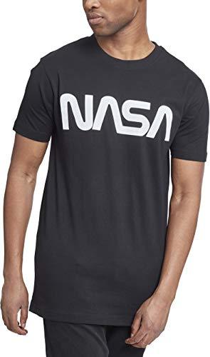 Mister Tee Herren NASA T-Shirt, black, Größe M