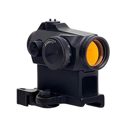 FOCUHUNTER Taktisch Reflex Red Dot Visier 12 Helligkeit Airsoft 2 MOA Sichtweite mit 20mm Schienenmontage zum Jagen und Schießen