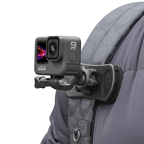 Backpack Strap Mount Quick Clip Mount,360 Degree Rotation Backpack Clamp Mount Compatible with GoPro Hero 9/8/7/6/5/4 Black, Session, Fusion, Xiaomi Yi,DJI Osmo Action and Most Action Cameras
