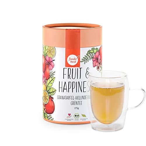 FRUIT & HAPPINESS | Feine Grüntee-Blätter | 100% Bio | foodsbest®, Größe:175 GRAMM