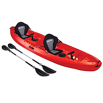 Bluewave Convoy Double +1 Sit On Top Fishing Kayak | 2-3 Person Craft With 4 Rod Holders, 2 Storage Hatches, 2 Padded Seats & 2 Paddles by Bluewave