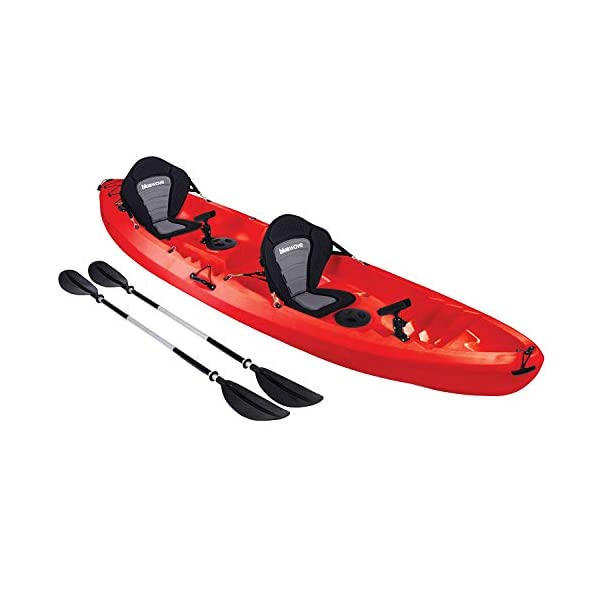 Bluewave Convoy Double +1 Sit On Top Fishing Kayak | 2-3 Person Craft With 4 Rod Holders, 2 Storage Hatches, 2 Padded Seats & 2 Paddles