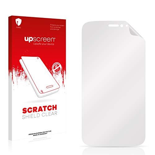 upscreen Schutzfolie kompatibel mit Wiko Darkside – Kristallklar, Kratzschutz, Anti-Fingerprint