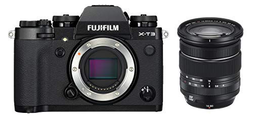 Fujifilm, X-T3 black / XF16-80mm Kit, systeemcamera, 26,1 megapixel, 7, 6 cm (3 inch) display, touchscreen, APS-C-sensor, set incl. XF16-80mmF4 R OIS WR-objectief, zwart