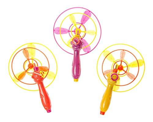 diverse 24 x Flugkreisel Set 8 & 6cm fliegende Untertasse Hubschrauber Spielzeug