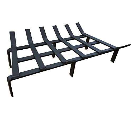 Great Price! Hi Flame Fire Pit Firewood Holder Heavy Duty Tapered Solid Steel Fireplace Grate, Matt ...