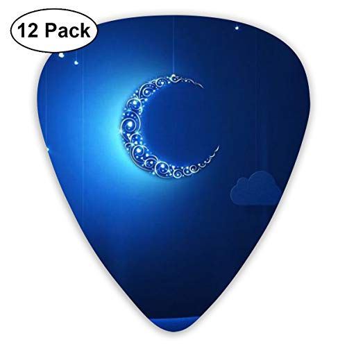 Guitar Picks Crescent Light Medium Thin For Acoustic Guitar, Bass And Electric Guitar Plectrums 12 Pack Includes 0.46mm 0.96mm 0.71mm