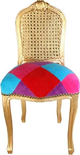 Casa Padrino Silla Ladys Karo Color/Oro - Edición Limitada