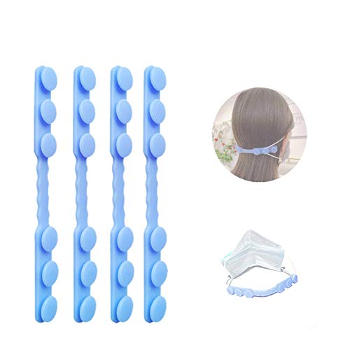 4 PCS Mask Hook, Mask Ear Hook Strap Buckle 3 Gears Adjustable Anti-Slip Ear Hook, Compapible with All Kinds of Mask, Special for Relieving Long-time Wearing Ears' Pressure&Pain for Nurse,Dust-Workers