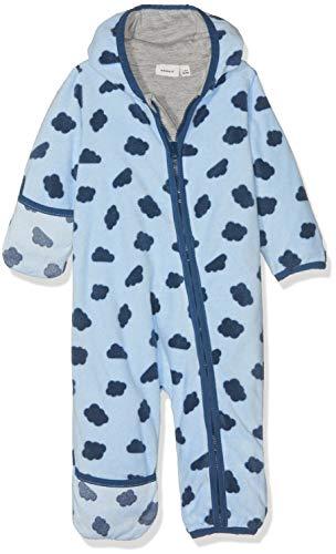 NAME IT Baby-Jungen Schneeanzug NBMMARVEL Fleece Suit, Mehrfarbig (Skyway), 62/68 (Herstellergröße: 62-68)