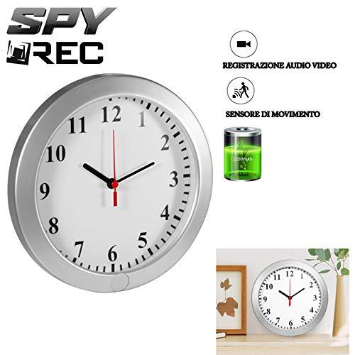 Orologio da parete sveglia spia con telecamera nascosta orologio