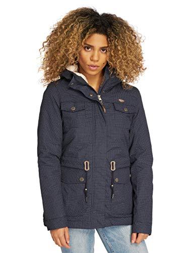 Ragwear Damen Winterjacke Laika Minidots blau S