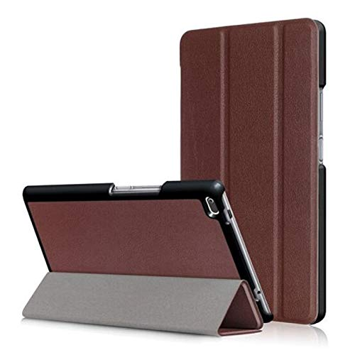 QiuKui Tab Cover For Lenovo Tab 7 Essential, Tablet Case Custer Fold Stand Bracket Flip Leather Cover For Lenovo Tab 7 Essential TB-7304F TB-7304 TB-7304N 7304F TB 7304 Tab7 (Color : KST Brown)