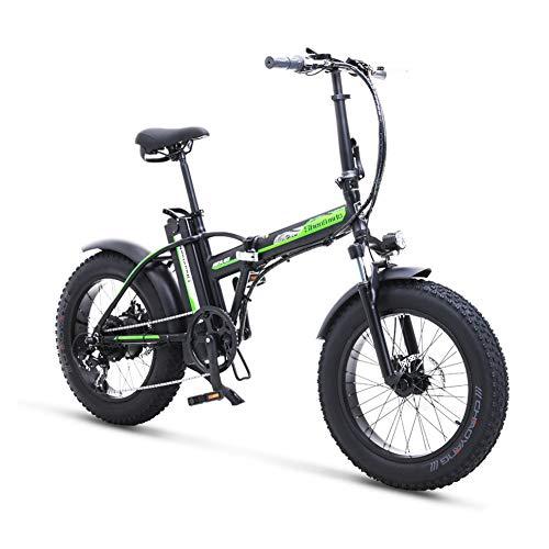 Shengmilo Bicicleta Eléctrica Plegables Fat Bike Ebike,500W Motor 35 km/h, Bici Electricas...