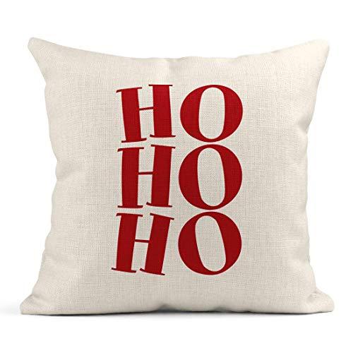 Throw Pillow Hohoho Santa Frase para Navidad Letras Navidad Saludos Buena Chatarra...
