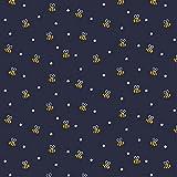 Hans-Textil-Shop Stoff Meterware Biene Blumen Baumwolle - 1