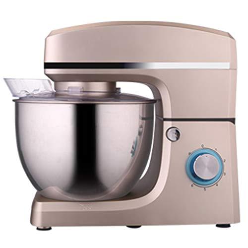 GAOLIGUO 8L Amasadora, 6 Velocidades Batidora Amasadora Multifuncional Robot Cocina Incluye 3 Accesorios de batido Acero Inoxidable Bol Amasadora para Repostería,Champagne