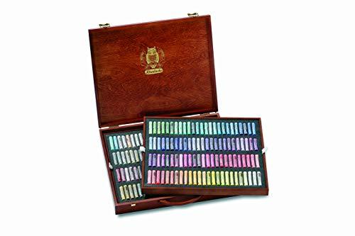 Schmincke 77200097 Lot de 50 pastels pour artiste extra doux dans une boîte en bois