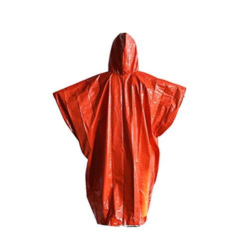 Imikeya Waterdichte wegwerp-regenjas met capuchon van aluminium voor outdoor-sporten en wandelingen met de fiets (rood), 2, Afbeelding 1