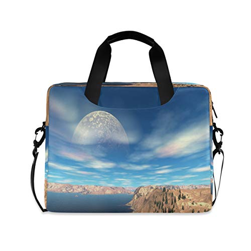 Fantasy Alien Planet Laptop Case 15.6 Inch Computer Carrying Protective Case with Strap Bag