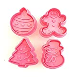 YXKC Christmas Cookie Biscuit Plunger Mould Fondant Cake Mold Bake DIY Christmas Cake Biscuit Mold Set Baking Decoration Tool Spring Press,Suitable for Home Bakery