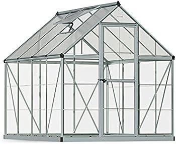 Palram HG5508 Hybrid Hobby 6' x 8' x 7' Greenhouse