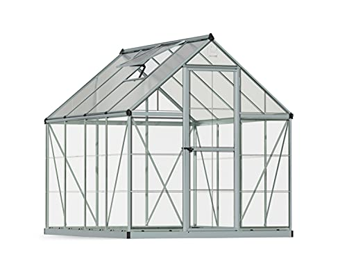 Palram HG5508 Hybrid Hobby Greenhouse, 6' x 8' x 7', Silver
