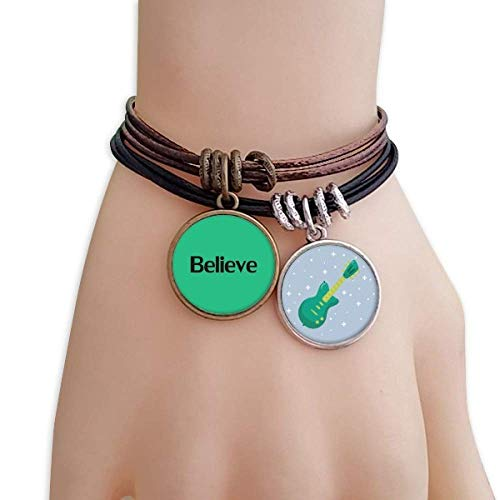 Believe Word - Pulsera de cuerda con frase inspiradora hecha a mano