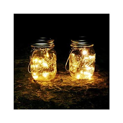Solarlampen für Außen, Einmachglas aus Südafrika, 6 Stück Solarlaterne Solarleuchte Mason Jar Licht 20 LED Solar Licht Hängend für Außen Garten Balkon Deko Geschenke, Terrasse, Rasen, Hof