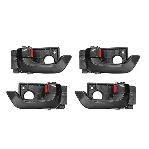 EMEI 4 tiradores de puerta interior izquierdo y derecho para Kia Optima 2.4L 2.7L 2006-2010 (color negro)
