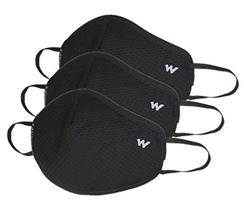 Wildcraft Supermask W95 Plus Reusable Outdoor Respirator Mask (Popcorn-Large) -Pack...