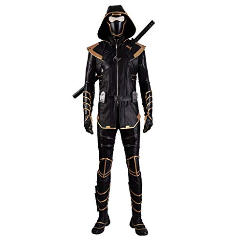 nihiug The Avengers 4 Final Battle Hawkeye Coltello Lungo Rogue Hooded Clothes Costume Cosplay Completo di Halloween,Black-S