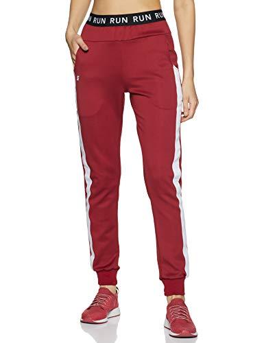Amazon Brand - Symactive Women's Slim Track Pants (SYMACT-TR04_Maroon_Small)