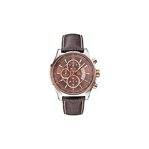 Guess Herren Chronograph Quarz Uhr mit Leder Armband X81002G4S