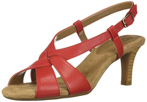 A2 by Aerosoles PASSCODE Heeled Sandal, RED, 6 M US