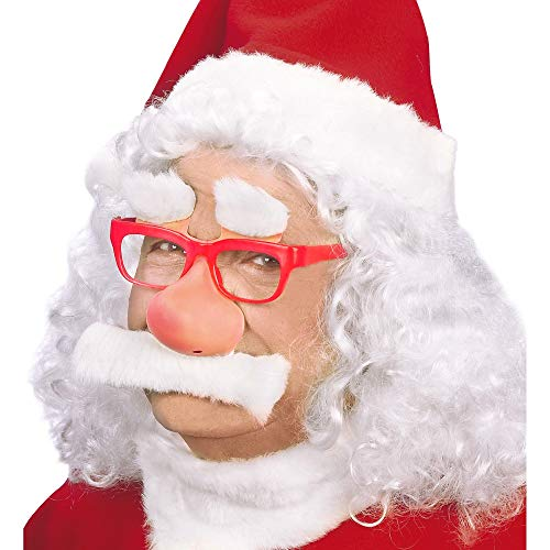 Widmann 1499 G ? Déguisement Lunettes, sourcils, nez moustache de Père Noël