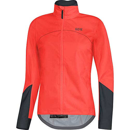 GORE WEAR Damen wasserdichte Rennrad-Jacke, C5 Women Gore-TEX Active, 36, 100202, lumi orange/Black