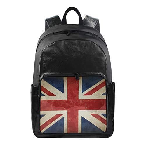 CPYang Vintage UK Flag Union Jack Rucksack Casual Rucksack Daypack College Schulranzen Reiserucksack für Damen Herren