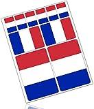 Biomar Labs® 10 x PVC Adesivi Set Stickers Bandiera Nazionale Francia France per Auto Moto Finestrìno Porta Casco Scooter Skateboard Bici PC Laptop Tablet Tuning D 22