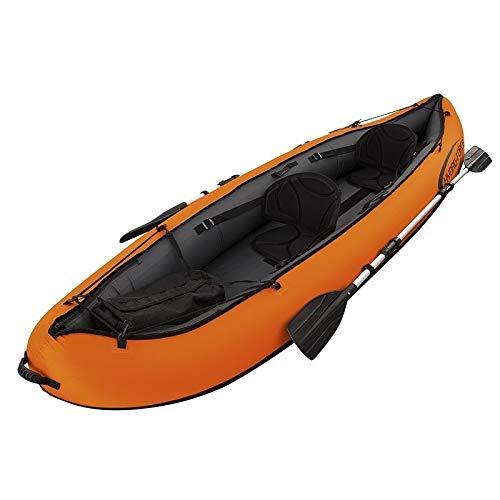YITING Botes inflables for adultos de alta resistencia, 0.60mm Espesar crucero de botes inflables for la pesca, de alta densidad fuerte de polímero plástico Asalto Barco kayak, remos con aluminio y bo