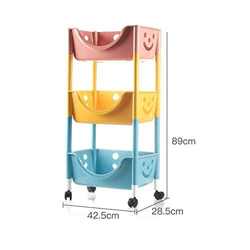 RKY Küchenregal Kunststoff Mobile Flexible große kapazität küche Wohnzimmer Spielzeug Rack...