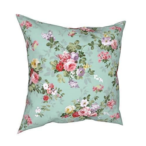 Uliykon Fundas de cojín decorativas para sofá, dormitorio, coche, con cremallera invisible, color rosa y rojo